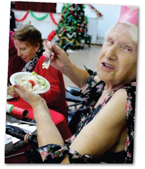 Christmas lunches for the elderly